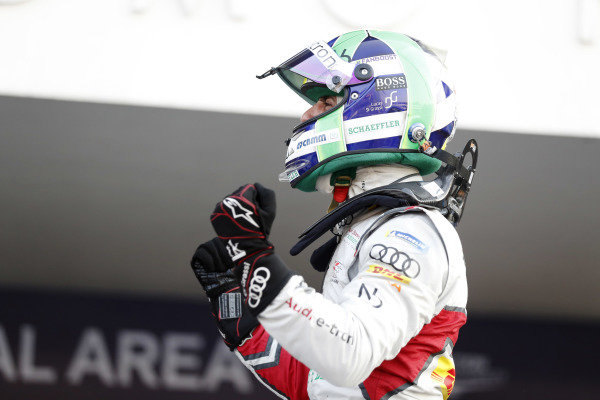 Lucas Di Grassi (BRA), Audi Sport ABT Schaeffler, Audi e-tron FE05, celebrates after winning the race