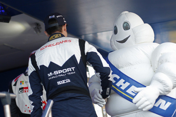 Michelin man at World Rally Championship, Rd9, Rally Finland, Day Two, Jyvaskyla, Finland, 29 July 2017.