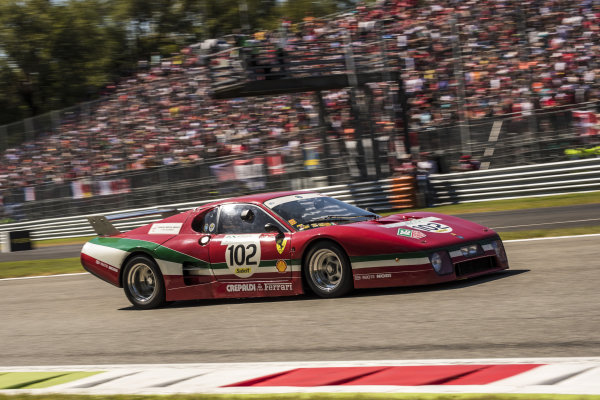 Ferrari 512 BB Le Mans at Formula One World Championship, Rd13, Italian Grand Prix, Race, Monza, Italy, Sunday 3 September 2017.