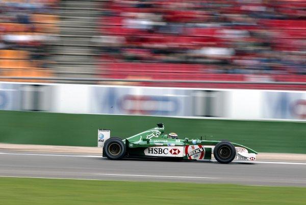 2002 German Grand Prix - PracticeHockenheim, Germany. 26th July 2002.Eddie Irvine (Jaguar R3).World Copyright: Steve Etherington/LATref: Digital Image Only