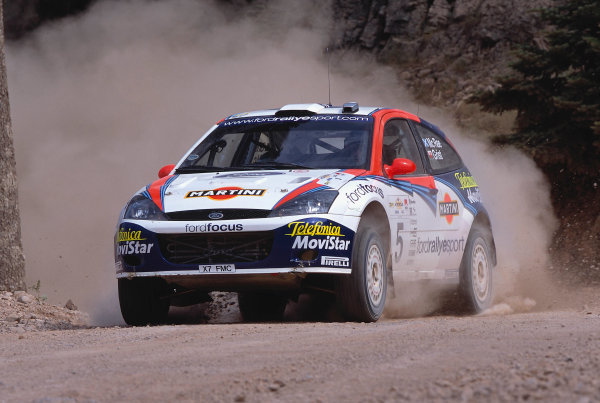 2002 World Rally ChampionshipAcropolis Rally, Greece. 13th - 16th June 2002.Colin McRae/Nicky Grist, Ford Focus RS WRC02, action.World Copyright: McKlein/LAT Photographicref: 35mm Image A04