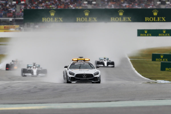 Safety Car leads on the formation lap