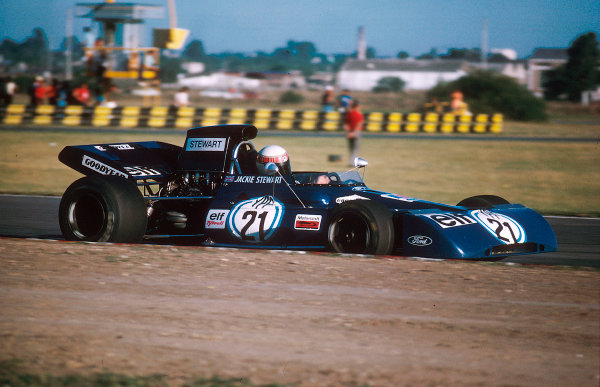 1972 Argentinian Grand Prix.Buenos Aires, Argentina. 21-23 January 1972.Jackie Stewart (Tyrrell 003 Ford) 1st position. Ref-72 ARG 10.World Copyright - LAT Photographic