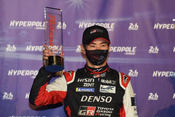 Polesitter Kamui Kobayashi, #7 Toyota Gazoo Racing Toyota GR010 - Hybrid Hypercar