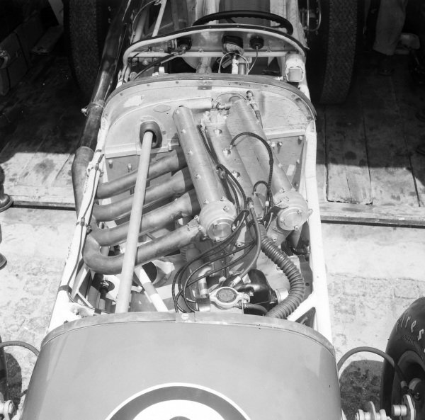 USAC Indy car engine detail.