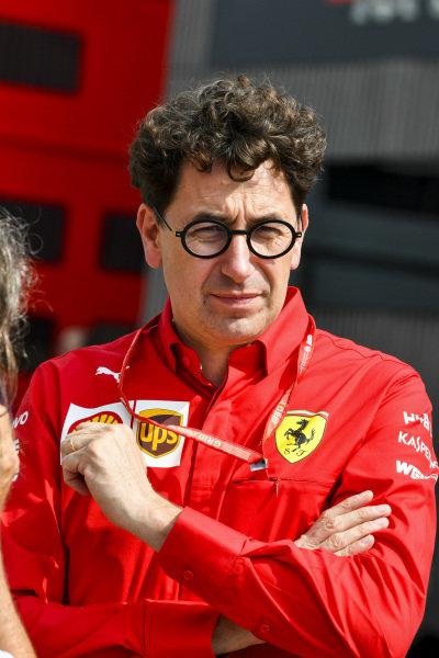 Mattia Binotto, Team Principal Ferrari in the paddock
