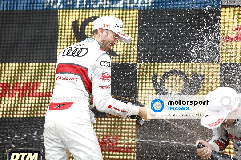 Podium: Race winner René Rast, Audi Sport Team Rosberg.