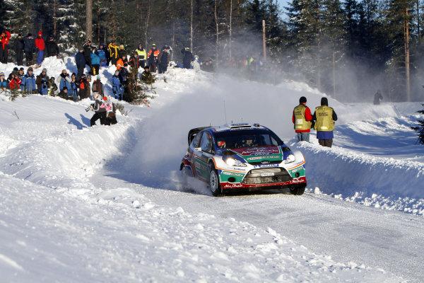 Round 01-Rally Sweden. 10th-13th February 2011.Mikko Hirvonen, Ford WRC, Action.Worldwide Copyright: McKlein/LAT