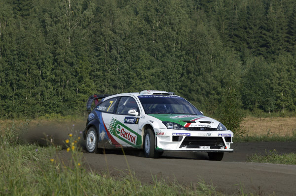 2004 FIA World Rally Champs. Round nine, Neste Rally Finland.5th - 8th August 2004.Markko Martin, Ford, action.World Copyright: McKlein/LAT