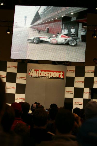 2005 Autosport International ShowNEC, England13-16 January 2005BAR Launch Transmitted live to the showWorld Copyright: Glenn Dunbar/ LAT PhotographicDigital Image Only