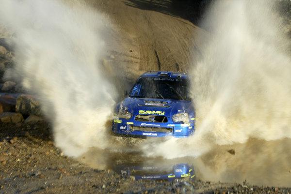 2004 FIA World Rally Champs. Round three, Corona Rally Mexico.11th-14th March 2004.Mikko Hirvonen, Subaru, action.World Copyright: McKlein/LAT