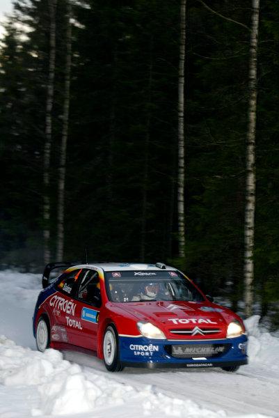 2004 FIA World Rally Champs. Round two, Swedish Rally.5th-8th February 2004.Carlos Sainz, Citroen, action.World Copyright: McKlein/LAT