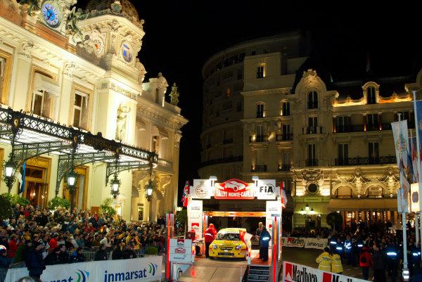 2004 FIA World Rally Champs. Round one, Monte Carlo Rally.22nd-25th January 2004.Monaco start.World Copyright: McKlein/LAT