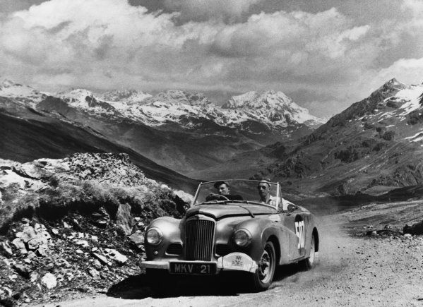 Marseilles to Cannes, France. 10th - 16th July 1953.Stirling Moss / John Cutts (Sunbeam-Talbot Alpine), Winner of the Coupe des Alpes award, here on the Passo di Gavia, action.World Copyright: LAT Photographic.Ref: Autocar Used Pic 18th August 1961 Pg 230.