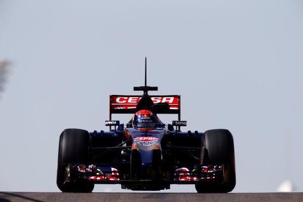 Yas Marina Circuit, Abu Dhabi, United Arab Emirates. Wednesday 26 November 2014. Max Verstappen, Toro Rosso STR9 Renault.  World Copyright: Glenn Dunbar/LAT Photographic. ref: Digital Image _89P0134