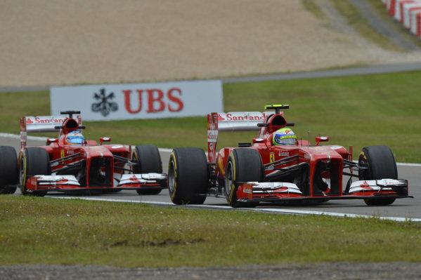 Felipe Massa (BRA) Ferrari F138. Formula One World Championship, Rd9, German Grand Prix, Practice, Nurburgring, Germany, Friday 5 July 2013.