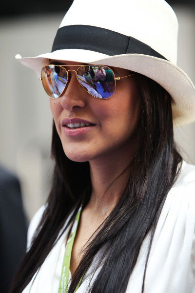 Neha Dhupia (IND) Bollywood actress. Formula One World Championship, Rd17, Indian Grand Prix, Buddh International Circuit, Greater Noida, New Delhi, India, Race, Sunday 28 October 2012.