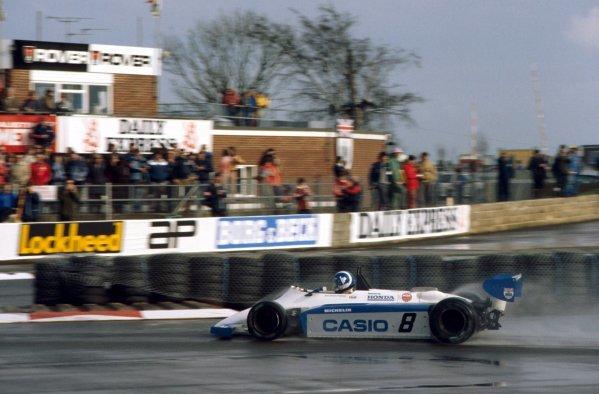 Jonathan Palmer (GBR) Ralt RH6/83H Mugen Honda retired due to dirt in the fuel. European Formula 2 Championship, Silverstone, England, 20 March 1983.