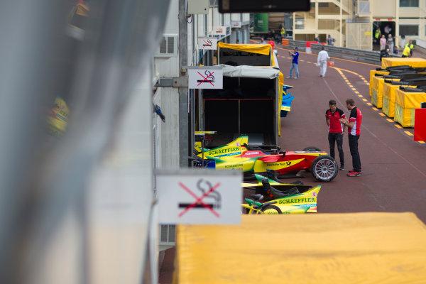 2014/2015 FIA Formula E Championship. Audi Abt. Thursday Set-Up. Monaco ePrix, Monte Carlo, Monaco, Europe. Thursday 7 May 2015  Photo: Adam Warner/LAT/Formula E ref: Digital Image _L5R8004