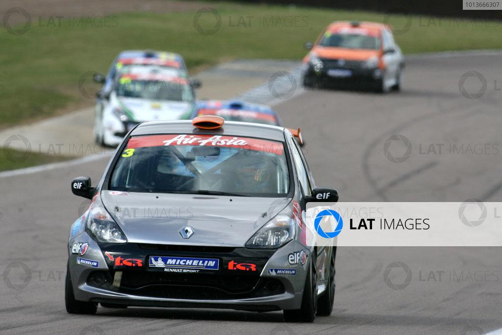 Rockingham, Northamptonshire. 17th - 18th September 2011.James Dixon (GBR) Total Control Racing Renault Clio Cup.World Copyright: Ebrey/LAT Photographic.