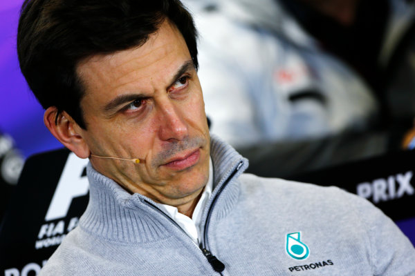 Albert Park, Melbourne, Australia. Friday 18 March 2016. Toto Wolff, Executive Director (Business), Mercedes AMG, in the Team Principals Press Conference. World Copyright: Andrew Hone/LAT Photographic ref: Digital Image _ONZ2143
