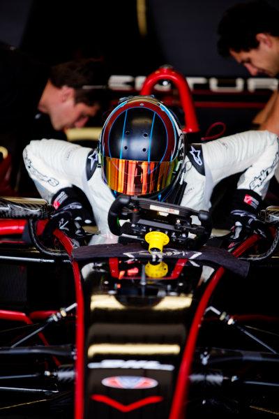 FIA Formula E Test Day, Donington Park, UK.  3rd - 4th July 2014.  Nick Heidfeld, Venturi Grand Prix. Photo: Malcolm Griffiths/FIA Formula E ref: Digital Image A50A2809