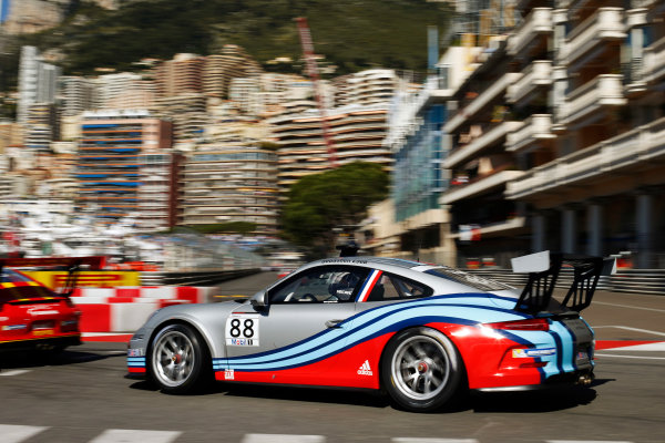 Monte Carlo, Monaco 26th May 2013 Sebastien Loeb, #88 Porsche AG.  World Copyright: Charles Coates/LAT Photographic ref: Digital Image _N7T9047