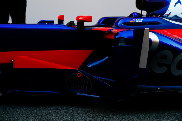 Toro Rosso STR12 Formula 1 Launch. Barcelona, Spain  Sunday 26 February 2017. STR12  World Copyright: Dunbar/LAT Images Ref: _X4I9996