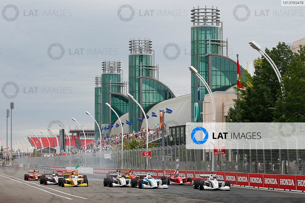 6-7, July, 2012, Toronto, Ontario, CATristan Vautier leads the start of the Indy Lights race.(c) 2012, Perry NelsonLAT Photo USA