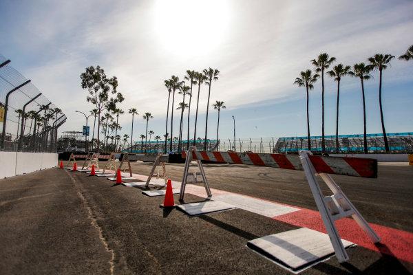 2014/2015 FIA Formula E Championship. Long Beach ePrix, Long Beach, California, United States of America. Friday 3 April 2015 Track construction. Photo: Zak Mauger/LAT/Formula E ref: Digital Image _MG_5120
