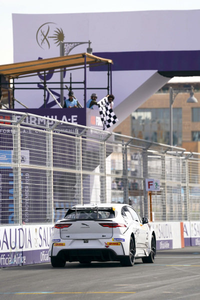 Abbie Eaton (GBR), Jaguar VIP car takes the chequered flag