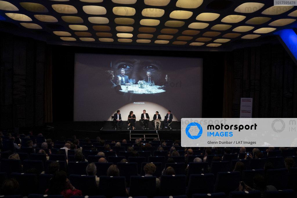 James Allen, Michele Mouton, Mika Hakkinen, Felipe Massa and Tom Kristensen on stage