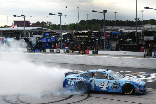 Race winner Kevin Harvick, Stewart-Haas Racing Ford Busch Light YOURFACEHERE Copyright: Jared C. Tilton/Getty Images.