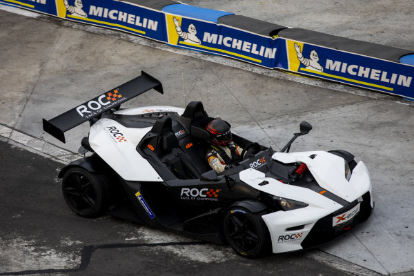 A ROC Mexico competitor driving the KTM X-Bow Comp R