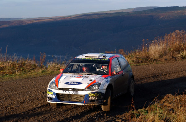 2002 World Rally Championship.Network Q Rally of Great Britain, Cardiff. November 14-17. Colin McRae in action on Stage 8, Resolfen.Photo: Ralph Hardwick/LAT