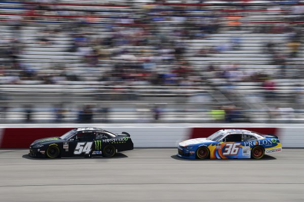 #54: Ty Gibbs, Joe Gibbs Racing, Toyota Supra Joe Gibbs Racing, #36: Alex Labbe, DGM Racing, Chevrolet Camaro DGM Racing