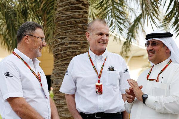 Bahrain International Circuit, Sakhir, Bahrain. Friday 4 April 2014. Silverstone circuit officials meet with Sheikh Mohammed bin Essa Al Khalifa, CEO of the Bahrain Economic Development Board. World Copyright: Charles Coates/LAT Photographic. ref: Digital Image _J5R7764