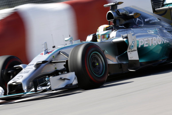 Circuit Gilles Villeneuve, Montreal, Canada. Friday 6 June 2014. Lewis Hamilton, Mercedes F1 W05 Hybrid. World Copyright: Alastair Staley/LAT Photographic. ref: Digital Image _R6T5692