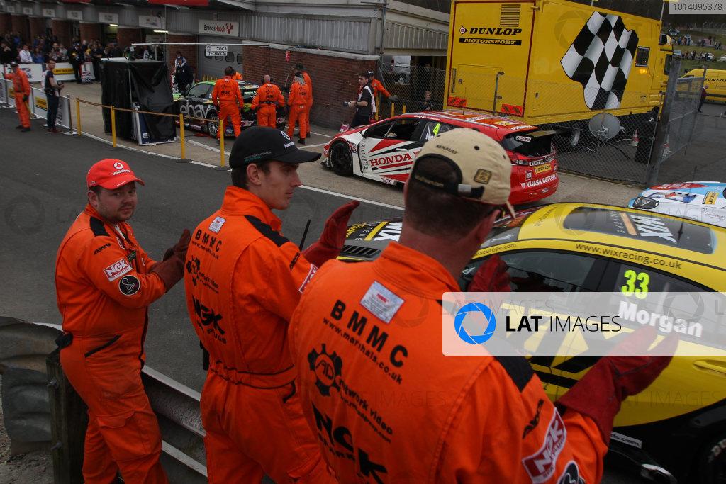 2014 British Touring Car Championship,Brands Hatch, 29th - 30th March 2014,marshalsWorld Copyright: Jakob Ebrey/LAT Photographic