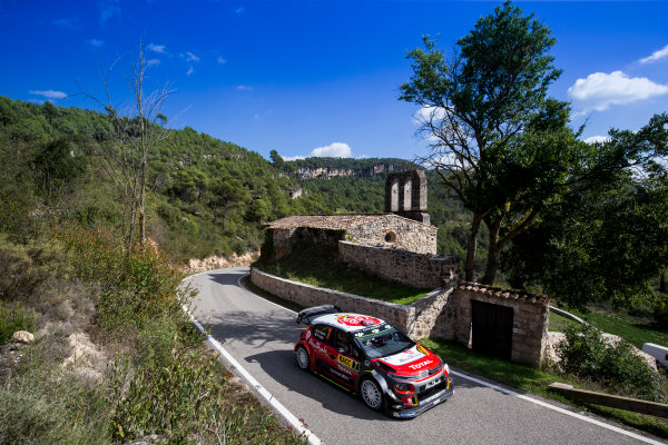 2017 FIA World Rally Championship, Round 11, Rally RACC Catalunya / Rally de España, 5-8 October, 2017, Kris Meeke, Citroen, action, Worldwide Copyright: LAT/McKlein
