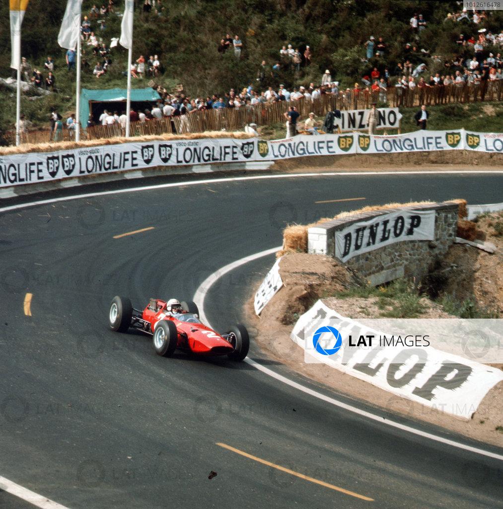 Charade, Clermont-Ferrand, France.25-27 June 1965.John Surtees (Ferrari 158) 3rd position.Ref-3/1770B.World Copyright - LAT Photographic