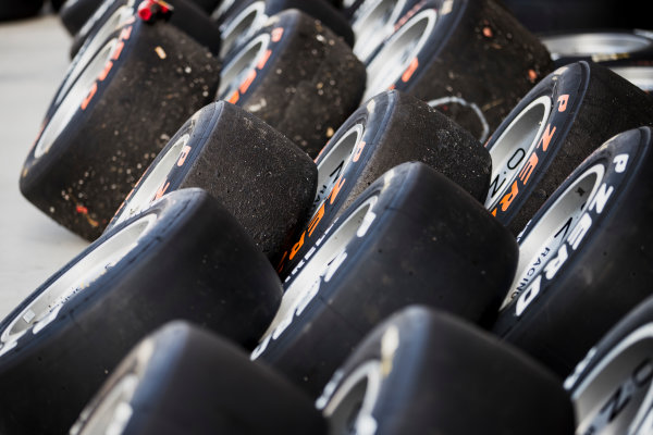 2017 GP3 Series Test 4.  Hungaroring, Budapest, Hungary. Tuesday 6 June 2017. Pirelli tyres. Photo: Zak Mauger/GP3 Series Media Service. ref: Digital Image _54I2044