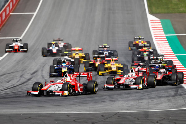 Red Bull Ring, Spielberg, Austria. Saturday 8 July 2017 Start of the Formula 2 Race Photo: Dunbar/FIA Formula 2 ref: Digital Image _31I6668