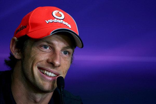 2011 Malaysian Grand Prix - Thursday Sepang, Kuala Lumpur, Malaysia 7th April 2011 Jenson Button (GBR), McLaren Mercedes World Copyright: Andrew Hone / Formula Press / LAT Photographic