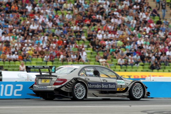 17.07 2011 Munich, Germany - race winner Bruno Spengler (CDN), Mercedes-Benz Bank AMG - DTM 2011 - Deutsche Tourenwagen Masters Show Event at Olympiastadion Muenchen - © Copyright: Stange/RACE-PRESS com