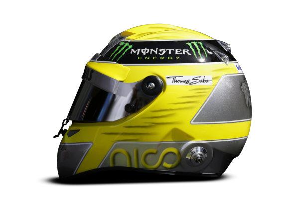 Albert Park, Melboune 14th March 2013 The helmet of Nico Rosberg, Mercedes AMG. World Copyright: LAT Photographic ref: Digital Image DKAL8824