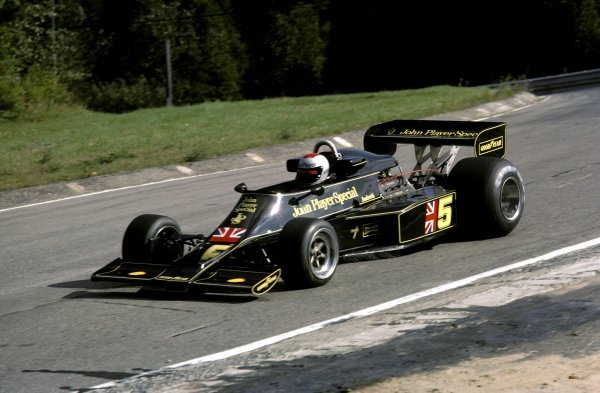 Mario Andretti (USA) Lotus 77 finished in third position.Canadian Grand Prix, Rd14, Mosport Park, Canada, 3 October 1976.BEST IMAGE