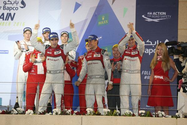 2016 FIA World Endurance Championship, Bahrain International Circuit, 17th-19th November 2016, Lucas di Grassi / Loic Duval / Oliver Jarvis - Audi Sport Team Joest Audi R18 World Copyright. Jakob Ebrey/LAT Photographic