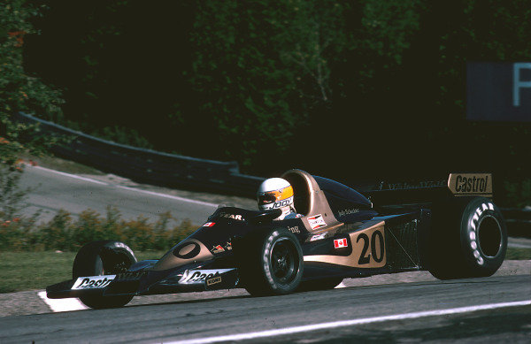 1977 Canadian Grand Prix. Mosport Park, Ontario, Canada. 9th October 1977. Jody Scheckter (Wolf WR2 Ford) 1st position. Ref-77 CAN 13. World Copyright - LAT Photographic