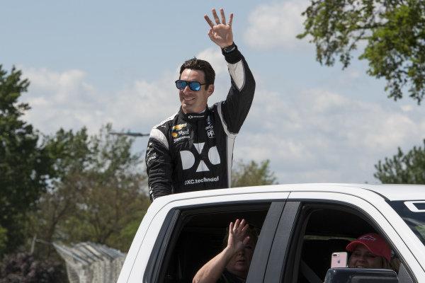 Simon Pagenaud, Team Penske Chevrolet, pre-race